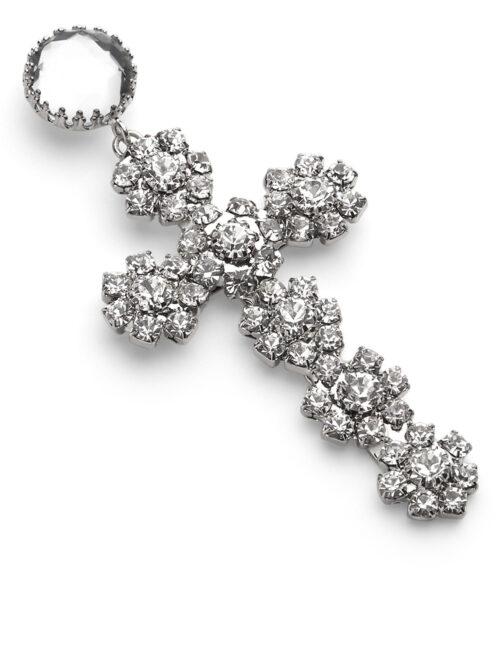 Philipp Plein Earrings Cross Nickel/Crystal