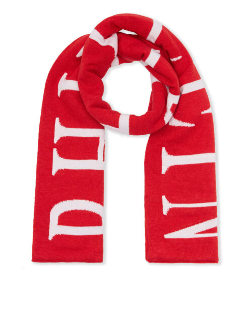 Philipp Plein Long Scarf Philipp Plein TM Rood-Wit