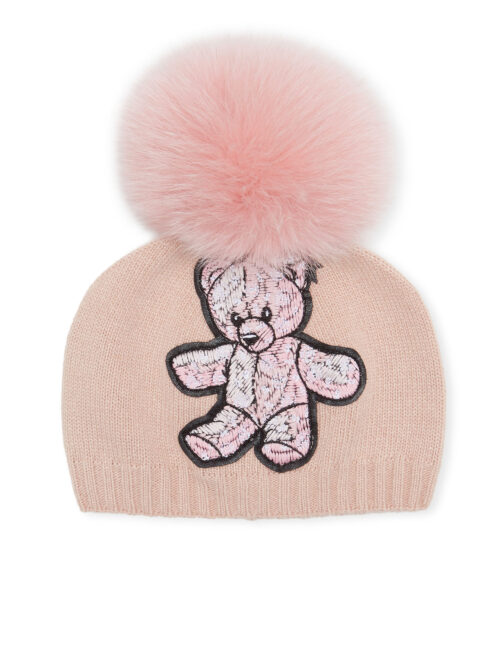 Philipp Plein Bonnet Teddy Bear Pink