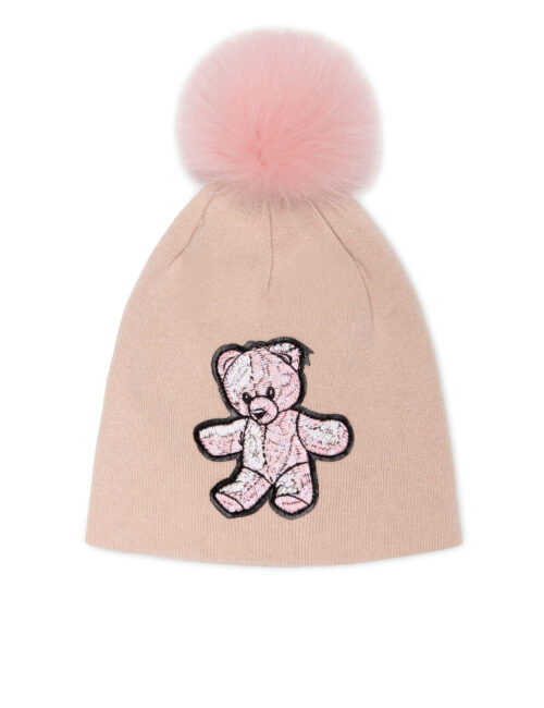 Philipp Plein Bonnet Teddy Bear Roze