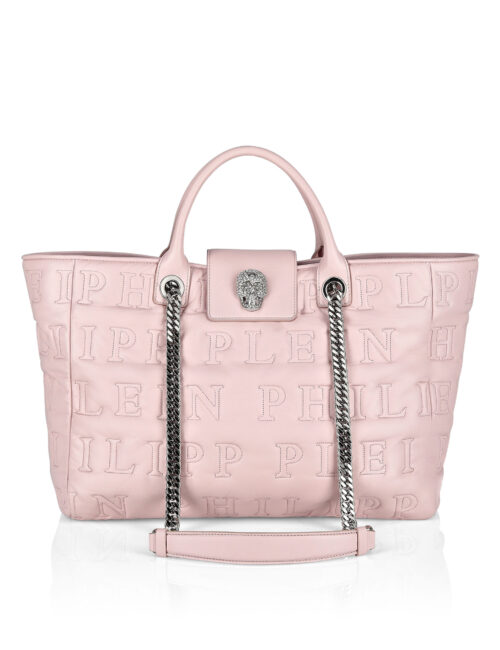 Philipp Plein Handle bag Skull Crystal Pink