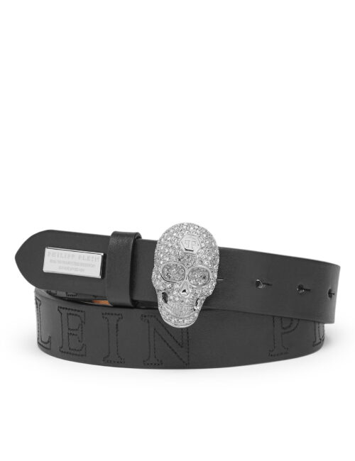 Philipp Plein Belt Skull PLEIN Crystal Black
