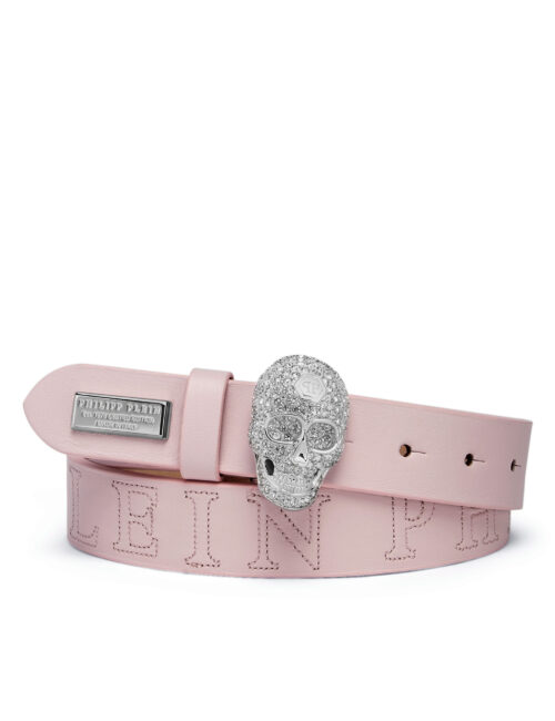 Philipp Plein Belt Skull PLEIN Crystal Pink
