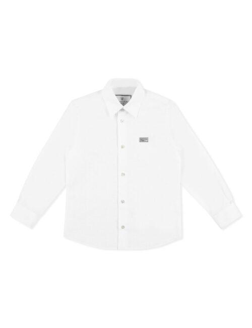 Philipp Plein Shirt Hexagon woven all over Wit Teenager