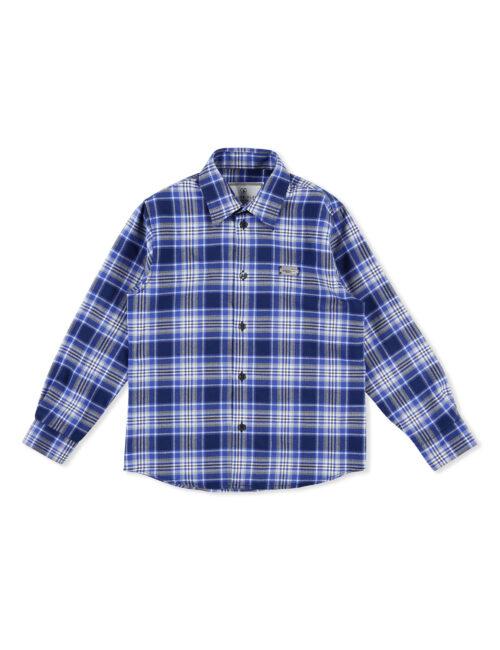 Philipp Plein Shirt Hexagon Tartan blauw Teenager