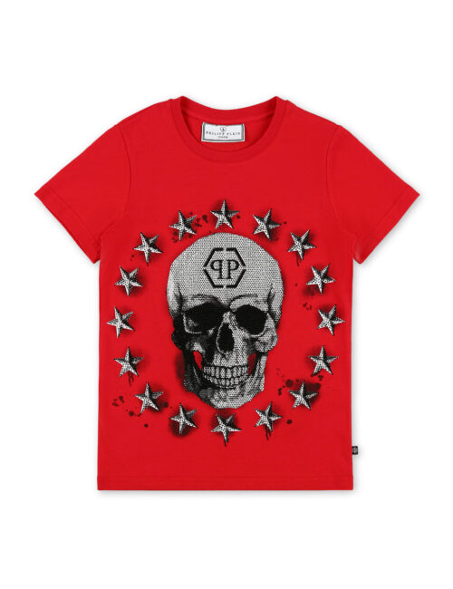 Philipp Plein T-shirt RN SS Stars and skull Rood