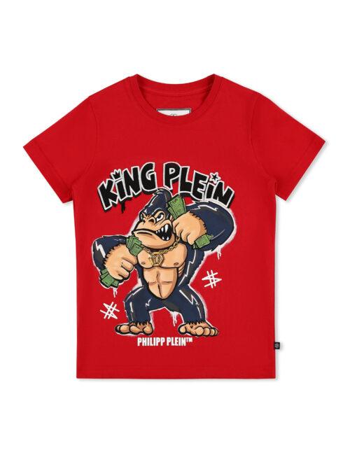 Philipp Plein T-shirt RN SS King Plein Gorilla Rood