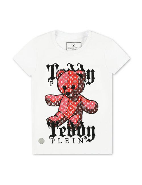 Philipp Plein T-shirt RN SS Teddy Bear Plein Wit teeanager