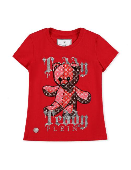 Philipp Plein T-shirt RN SS Teddy Bear Plein Rood Teenager