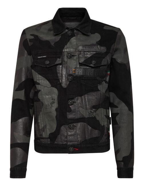 Philipp Plein Denim Jacket Camouflage