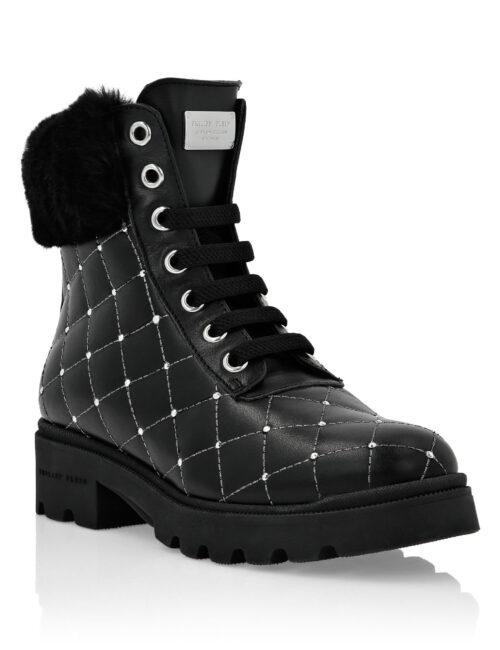 Philipp Plein Boots Low Flat Studs Black / Nickel T