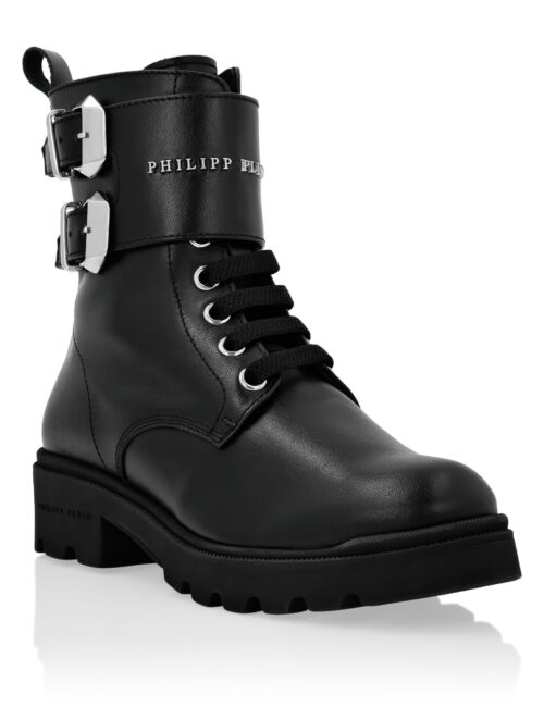 Philipp Plein Boots Mid Flat Istitutional T