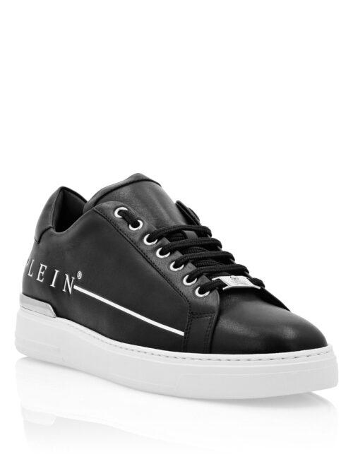Philipp Plein Lo-Top Sneakers Istitutional Plein Zwart-Wit