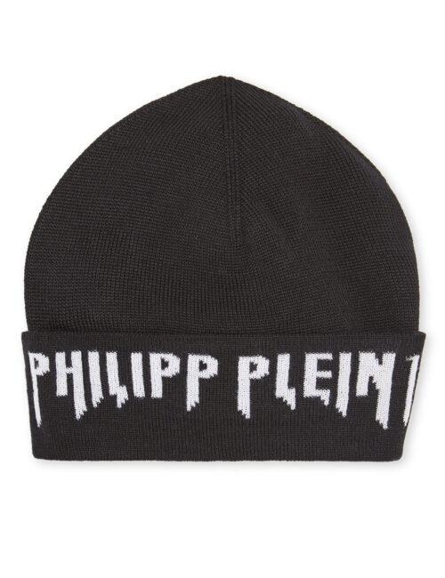 Philipp Plein Hat Gothic Plein Zwart/Wit