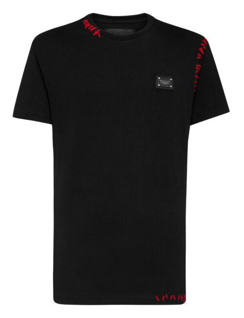 Philipp Plein T-Shirt Round Neck SS Istitutional Zwart