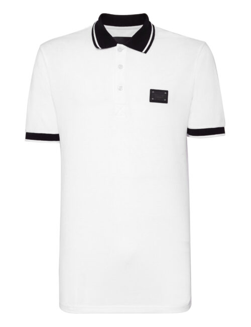 Philipp Plein Polo Shirt Istitutional Wit