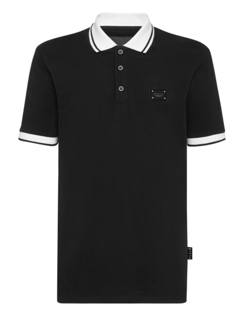 Philipp Plein Polo Shirt Istitutional Zwart