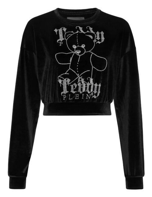 Philipp Plein Sweatshirt LS Monogram Teddy Bear Zwart