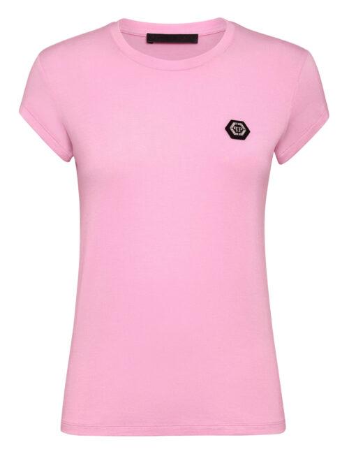 Philipp Plein T-Shirt Round Neck SS Comfort Roze