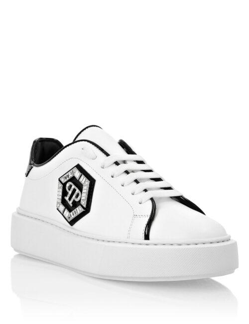 Philipp Plein Lo-Top Sneakers Stones Hexagon Wit/Zwart