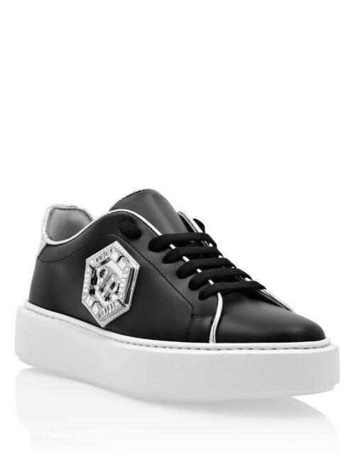 Philipp Plein Lo-Top Sneakers Stones Hexagon Zwart/Zilver