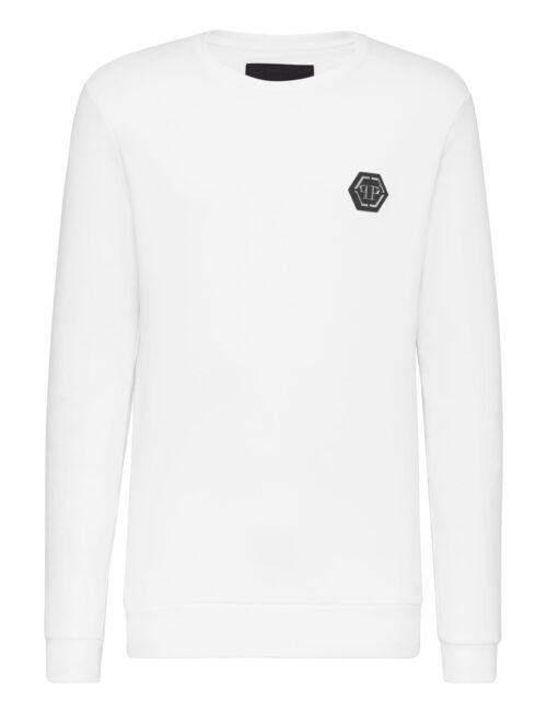 Philipp Plein Sweatshirt LS Istitutional Wit