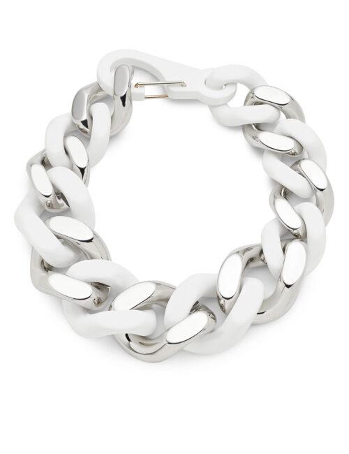 Philipp Plein Necklace Wit/Nickel
