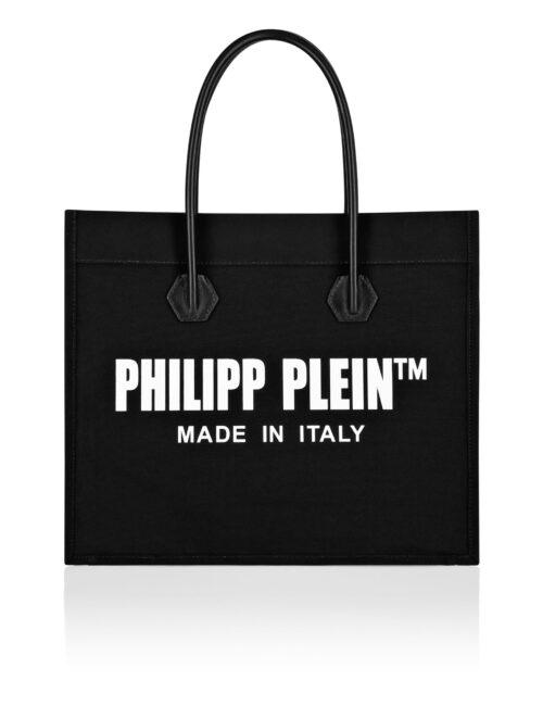 Philipp Plein Canvas Handle Bag Zwart