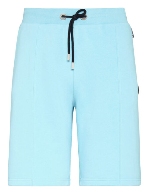 Philipp Plein Jogging Shorts Iconic Licht Blauw