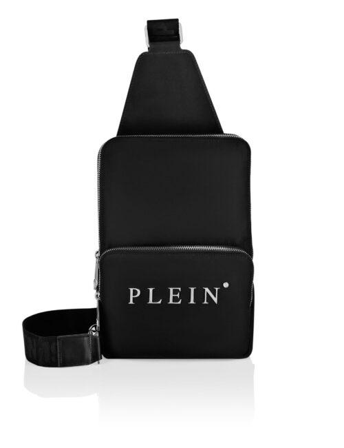 Philipp Plein Nylon Cross Body Iconic Plein Zwart