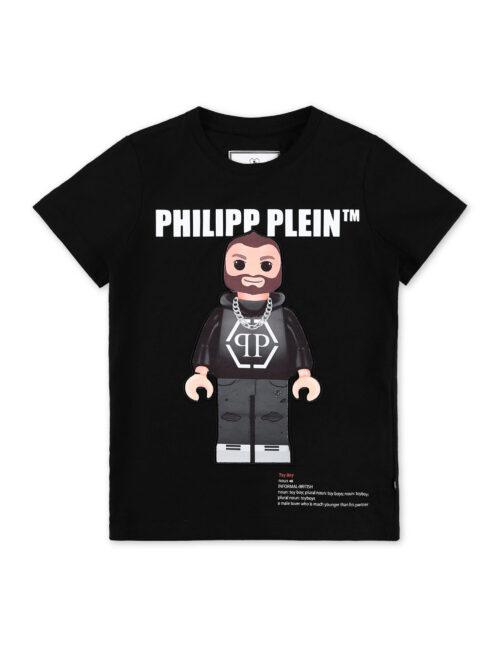 Philipp Plein T-Shirt Round Neck SS Philipp Plein TM Zwart (12-16J.)
