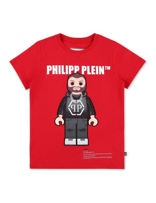 Philipp Plein T-Shirt Round Neck SS Philipp Plein TM Rood (12-16J.)