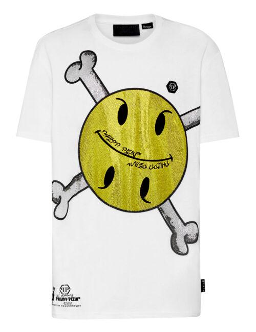 Philipp Plein T-Shirt Round Neck SS Smile Wit