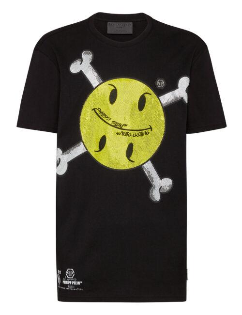 Philipp Plein T-Shirt Round Neck SS Smile Zwart