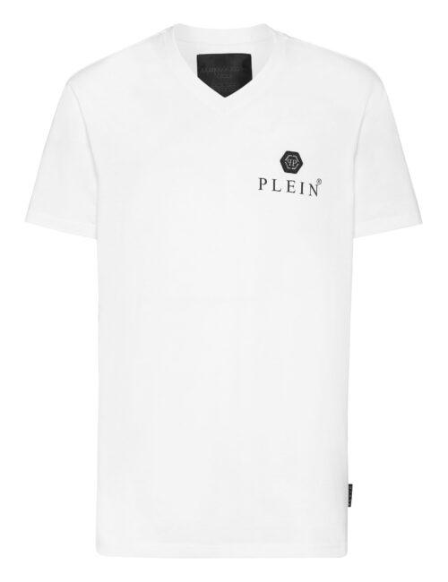 Philipp Plein T-Shirt V-Neck SS Iconic Plein Wit