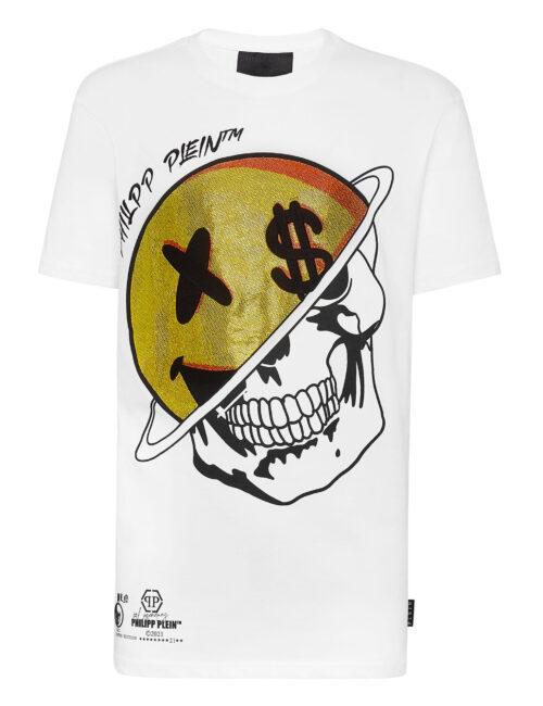 Philipp Plein T-Shirt Round Neck Smile Wit