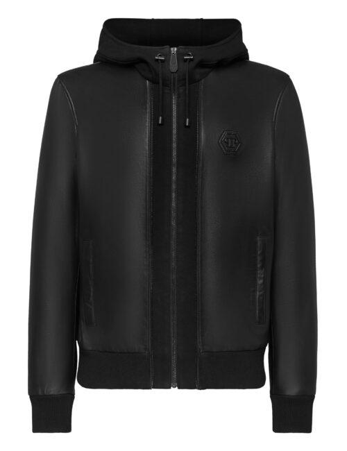 Philipp Plein Soft Leather Jancket Iconic Zwart