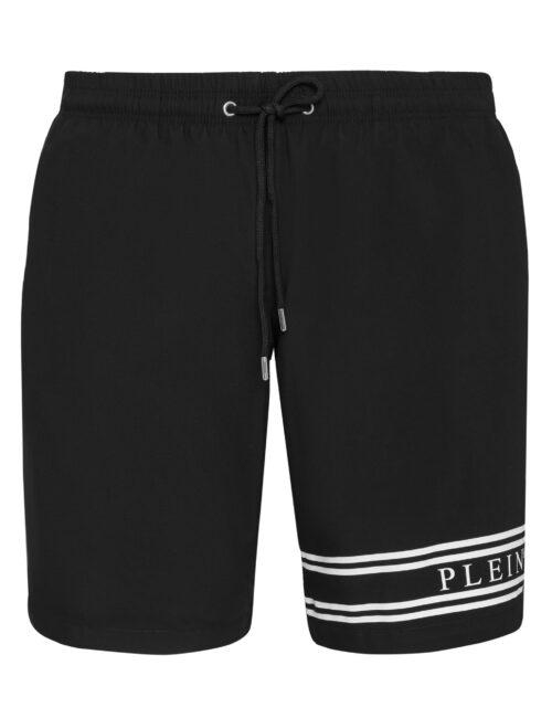 Philipp Plein Beachwear Stripes Zwart