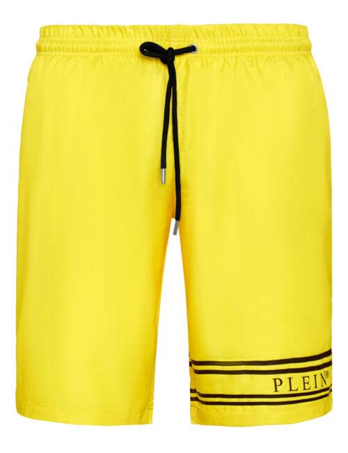 Philipp Plein Beachwear Stripes Geel