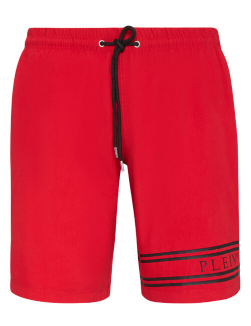 Philipp Plein Beachwear Stripes Rood