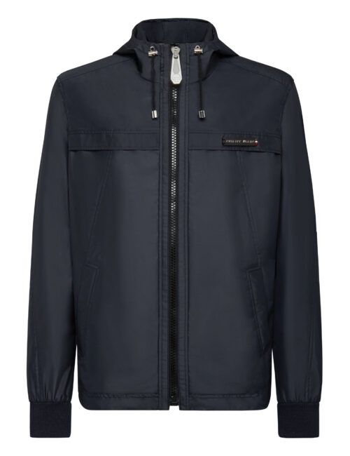 Philipp Plein Nylon Jacket Iconic Navy