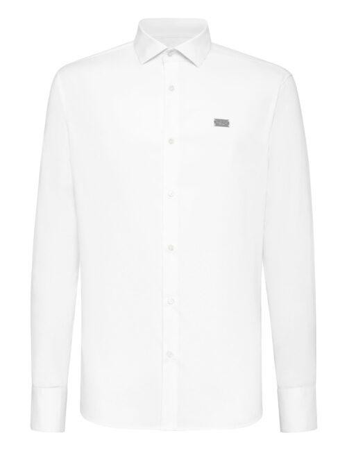 Philipp Plein Shirt Diamond Cut LS Iconic Plein Wit