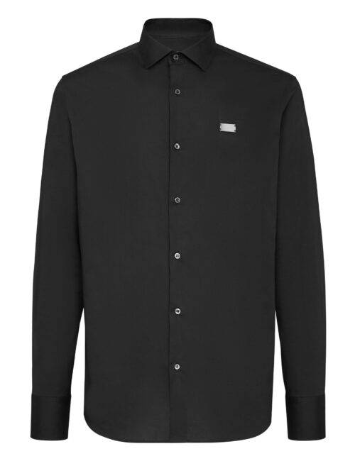 Philipp Plein Shirt Diamond Cut LS Iconic Plein Zwart