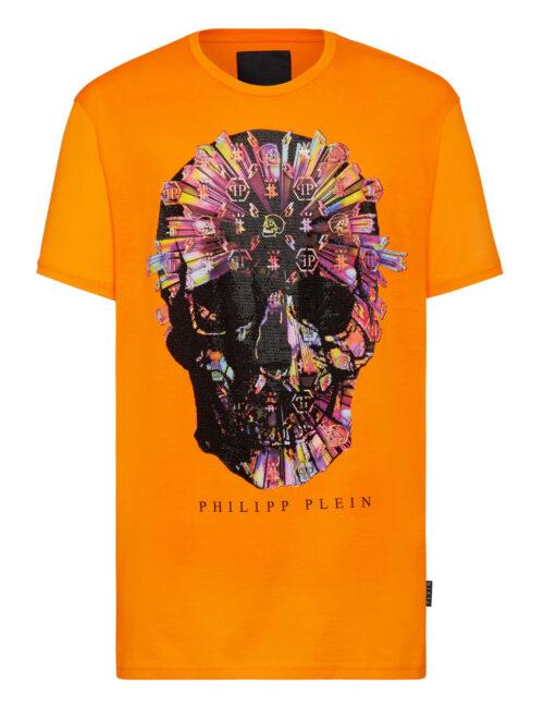 Philipp Plein T-Shirt Colorful Skull Oranje