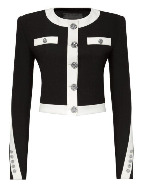 Philipp Plein Cady Black And White Jacket Zwart