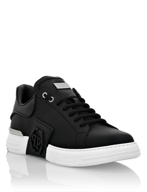 Philipp Plein Rubber Leather Phantom Kick$ Zwart