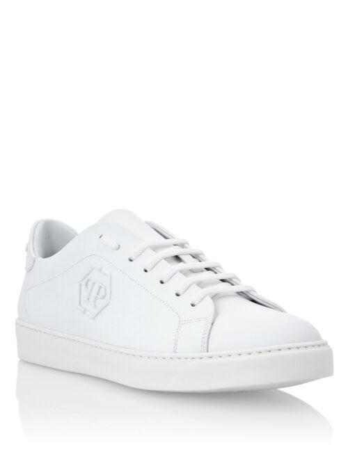 Philipp Plein Rubber Leather Sneakers The Plein Wit