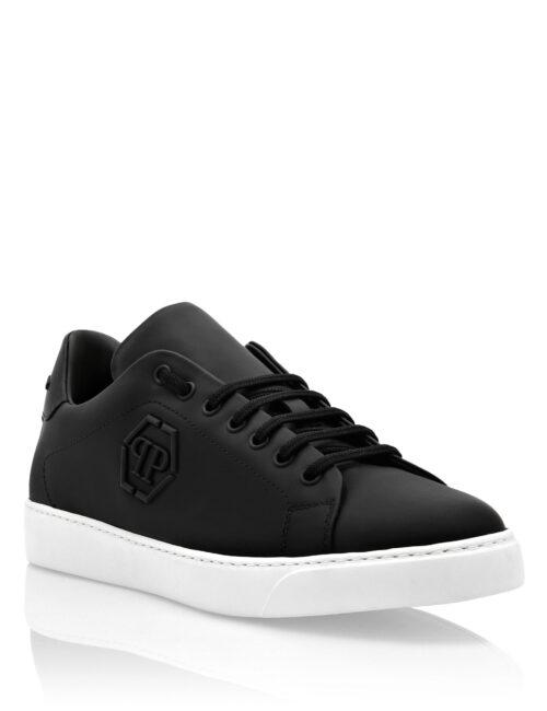Philipp Plein Rubber Leather Sneakers The Plein Zwart