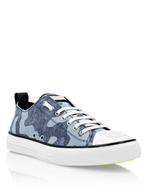 Philipp Plein Canvas Sneakers Megastar Camouflage/Blauw