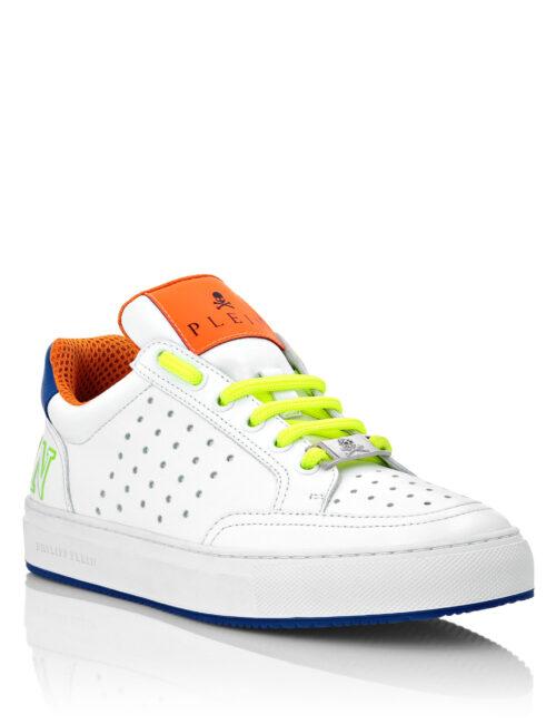 Philipp Plein Leather Sneakers Fluo Wit